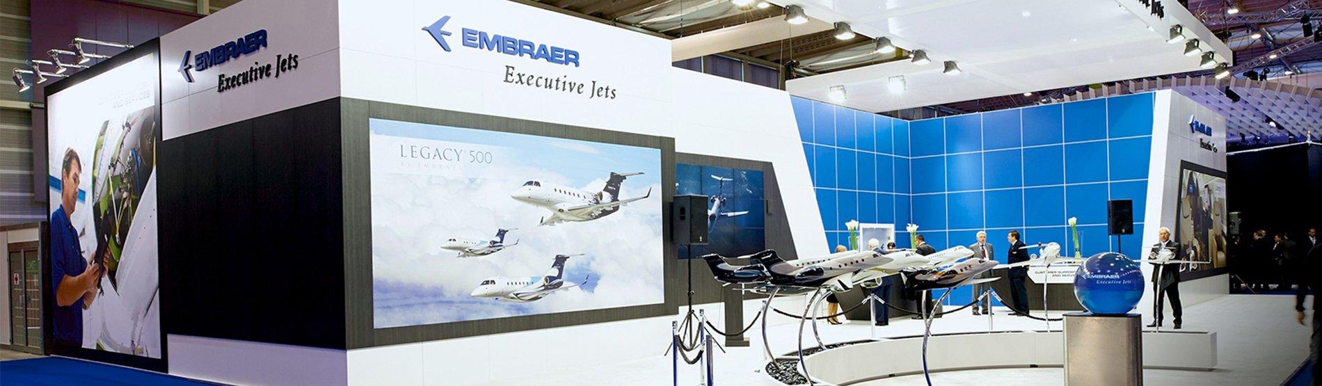embraer trade show exhibit